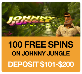 100 Free Spins on Johnny Jungle