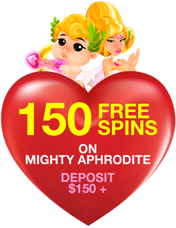 150 Free Spins on Mighty Aphrodite